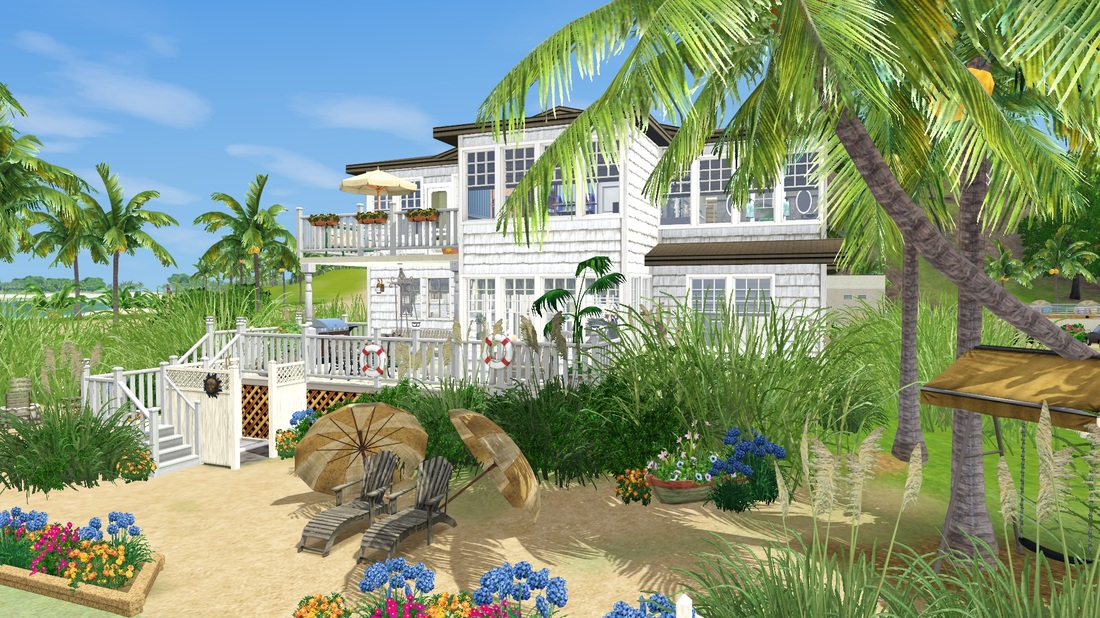 sea shore beach cottage tiki 39 s sims 3 corner
