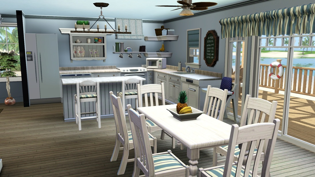 Sea breeze beach house tiki 39 s sims 3 corner for Beach house designs for sims 3