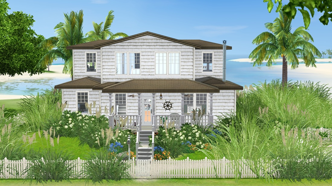 Sea Shore Beach Cottage Tiki S Sims 3 Corner